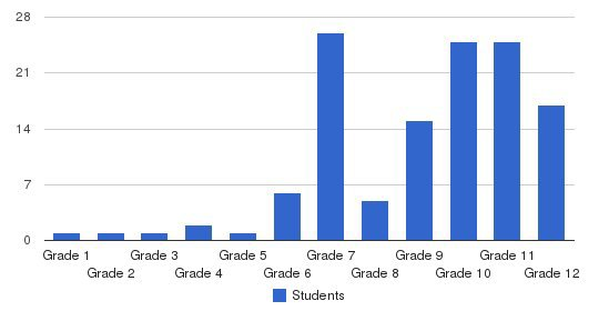 Joseph Academy Students by Grade