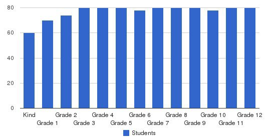 Regents School Of Austin Students by Grade