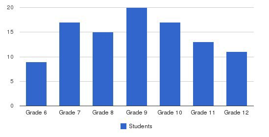 The New Community School Students by Grade