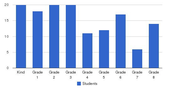 the New Village School Students by Grade