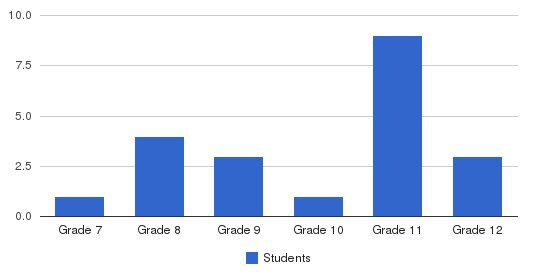 New Hope Academy Students by Grade