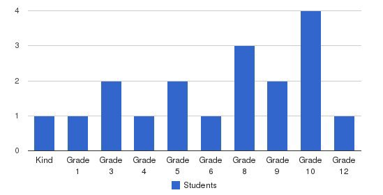 Almondale Academy Private School Students by Grade