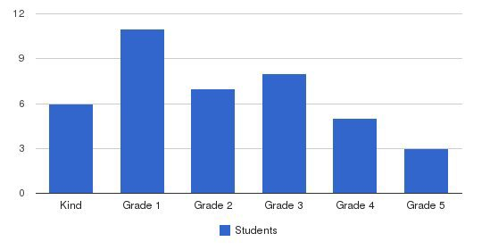 Cambridge Christian Academy Students by Grade
