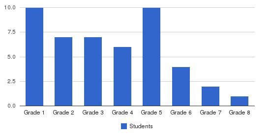 International Montessori School Students by Grade