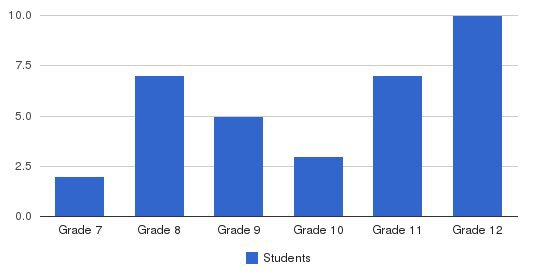 Valley Star High School Students by Grade
