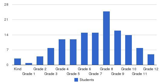 Grace Academy International Students by Grade