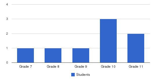 Grace Haven Academy Students by Grade