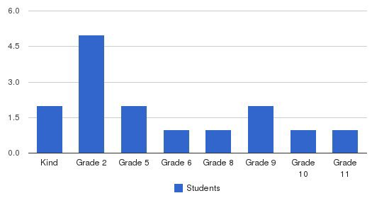 Wesley Academy Students by Grade