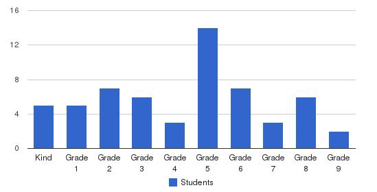 Connecticut Christian Academy Students by Grade