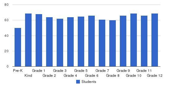 Washington International School Students by Grade
