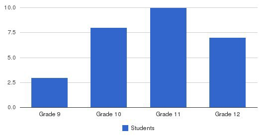 Southwestern Academy / Beaver Creek Ranch Students by Grade