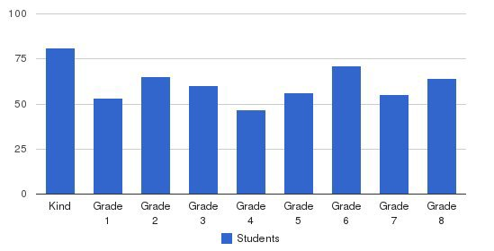 Perimeter Christian School Students by Grade