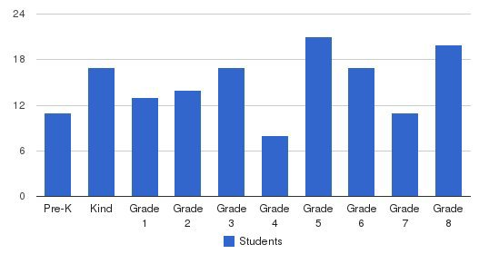 St Irene Catholic School Students by Grade