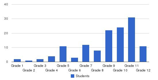 Ucan Academy Students by Grade