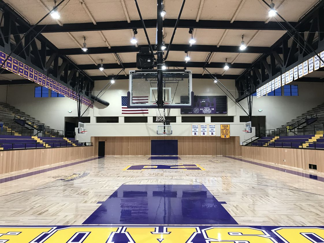 Archbishop Riordan High School Photo #1 - A view of Riordan's recently-renovated gym. Riordan's basketball team nabbed its 15th CCS basketball title in the recent 2017-18 season.