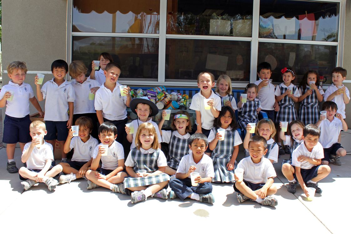 All Saints' Episcopal Day School Photo - Pre-K hosts a lemonade stand and collects cans to help support St. Mary's Food Bank !