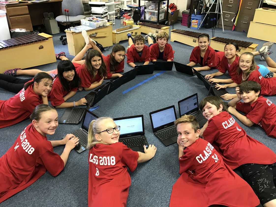 Castlehill Country Day School Photo #1 - Our fifth graders working on creating websites!
