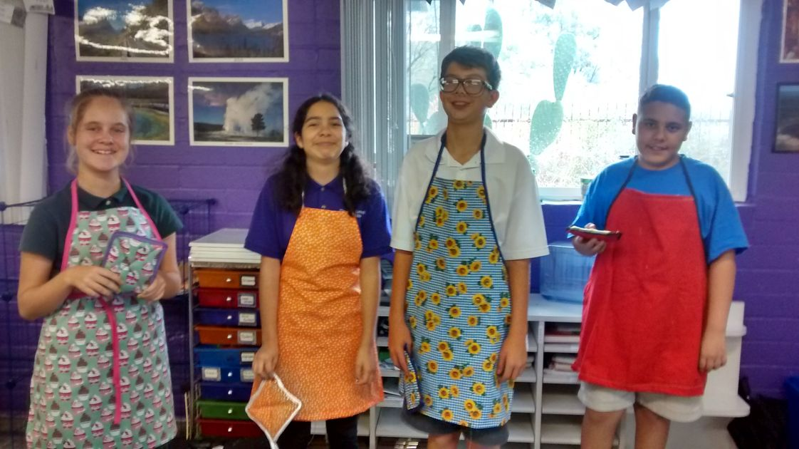 Abbie School Photo - Scholars in our Home Economics class enjoy cooking, baking, and sewing!