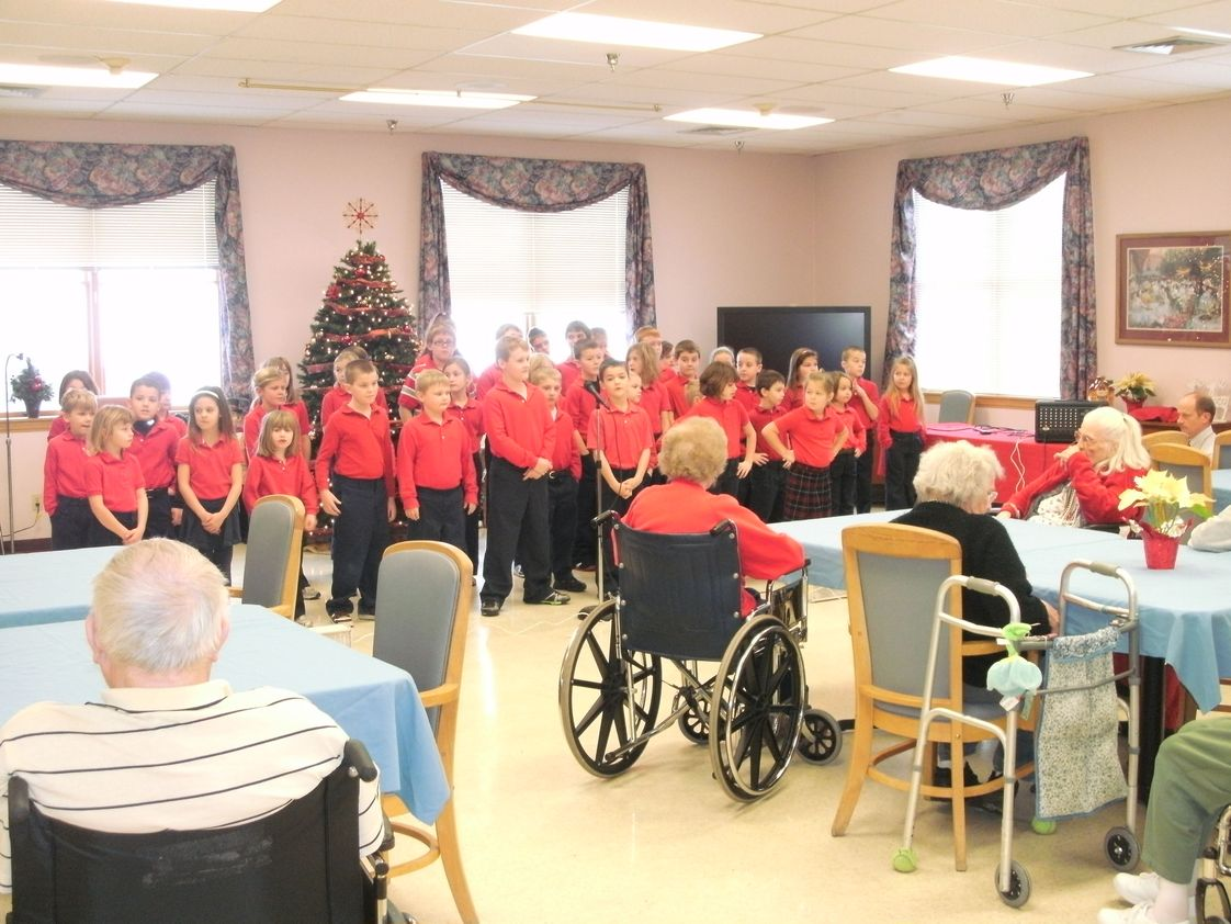St. Paul School - New Alsace Photo #1 - St. Paul Students perform the Christmas Show at Nursing Home