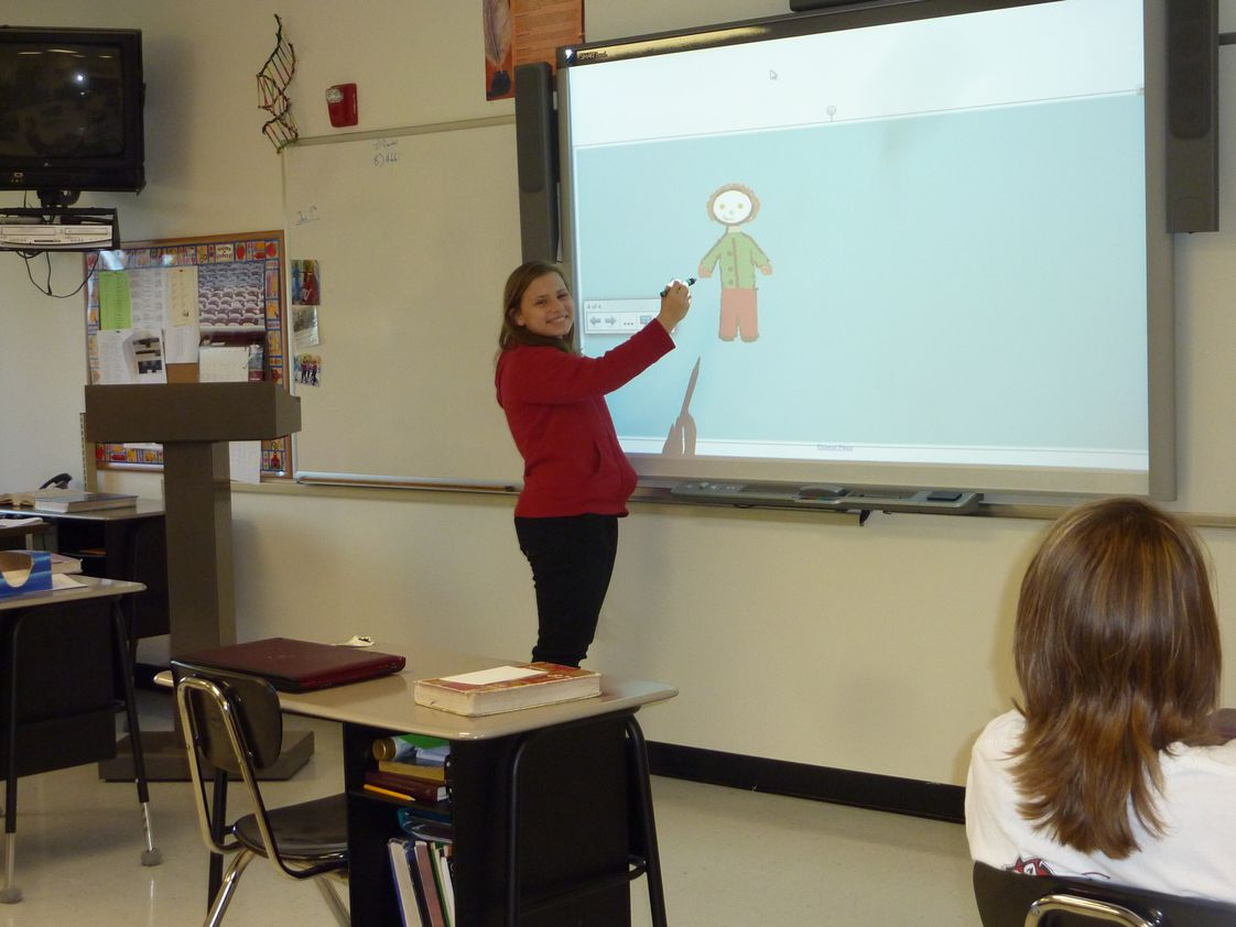 St. Paul Lutheran School Photo #1 - Our 7th and 8th grade students using our their new SMART Board