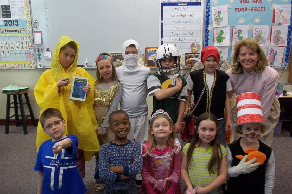 Ames Christian School Photo - Ames Christian School Kindergartners dressed as their favorite book characters for Book Week.