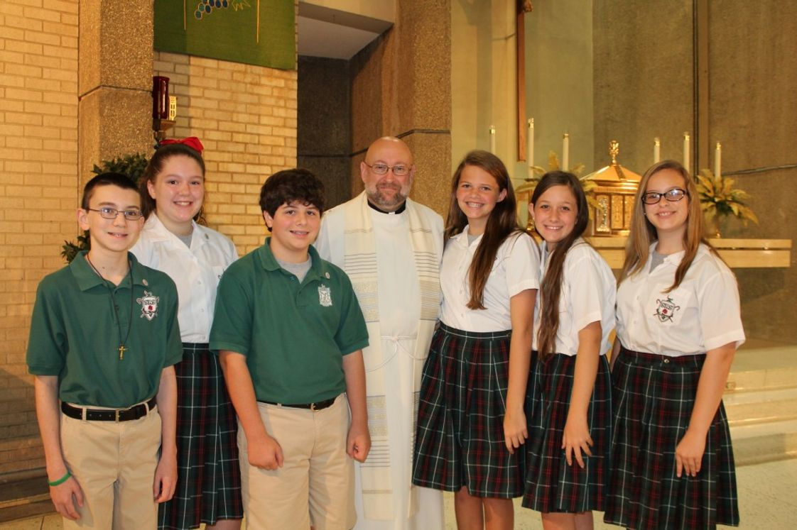 St Rita School Photo #1 - 7th grade Pinning Ceremony
