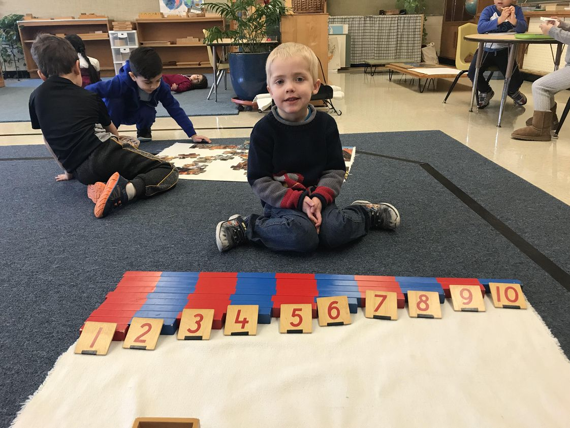 Dearborn Heights Montessori Center Photo - Math is exciting in an authentic Montessori classroom.