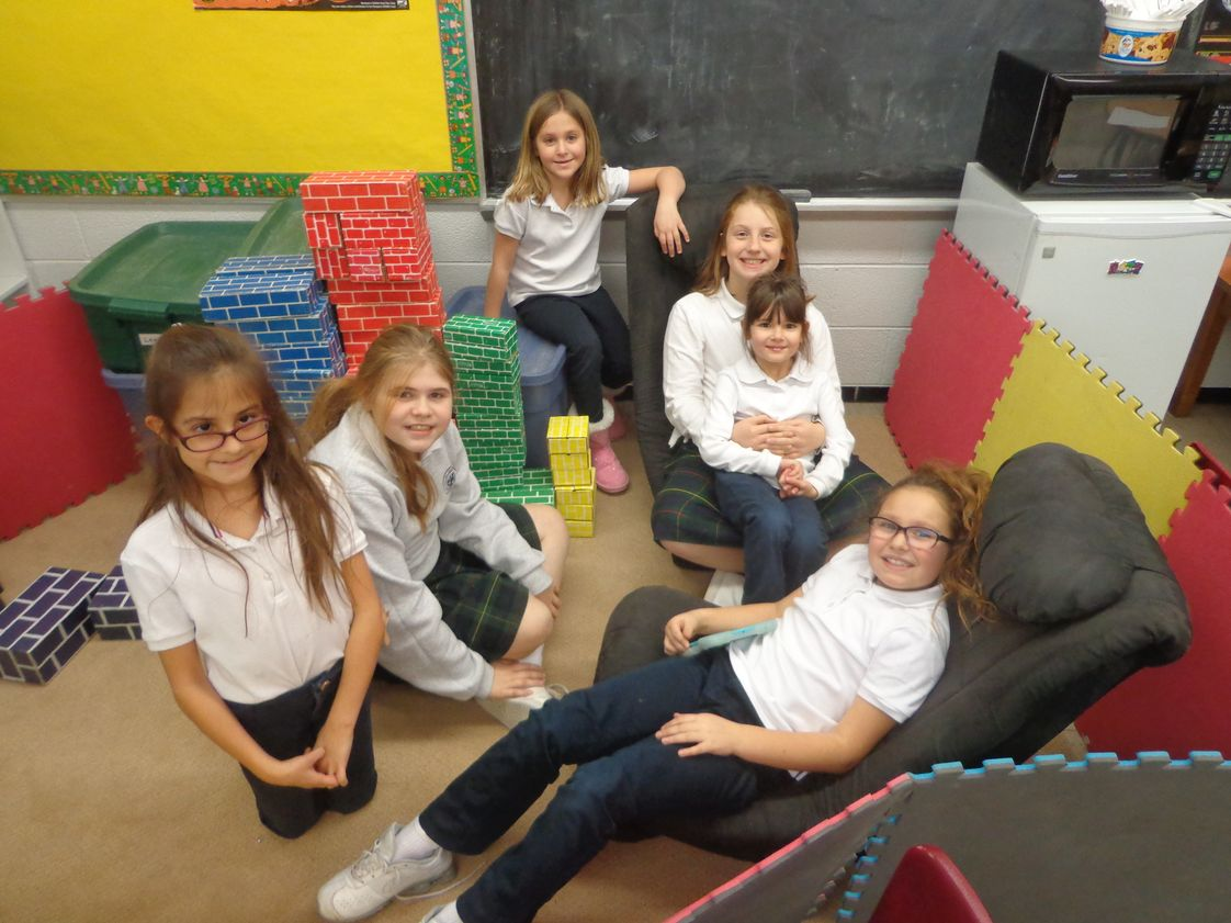 St. Germaine Catholic School Photo - Students ranging from grades 1 - 5 relaxing after a full day of school in our School Aged Child Care (SACC).