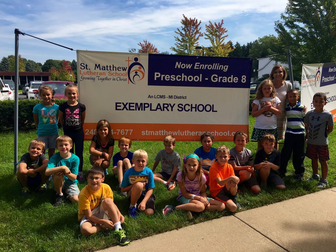 St. Matthew Lutheran School Photo - St. Matthew is recognized as an Exemplary School by the LCMS - MI District.