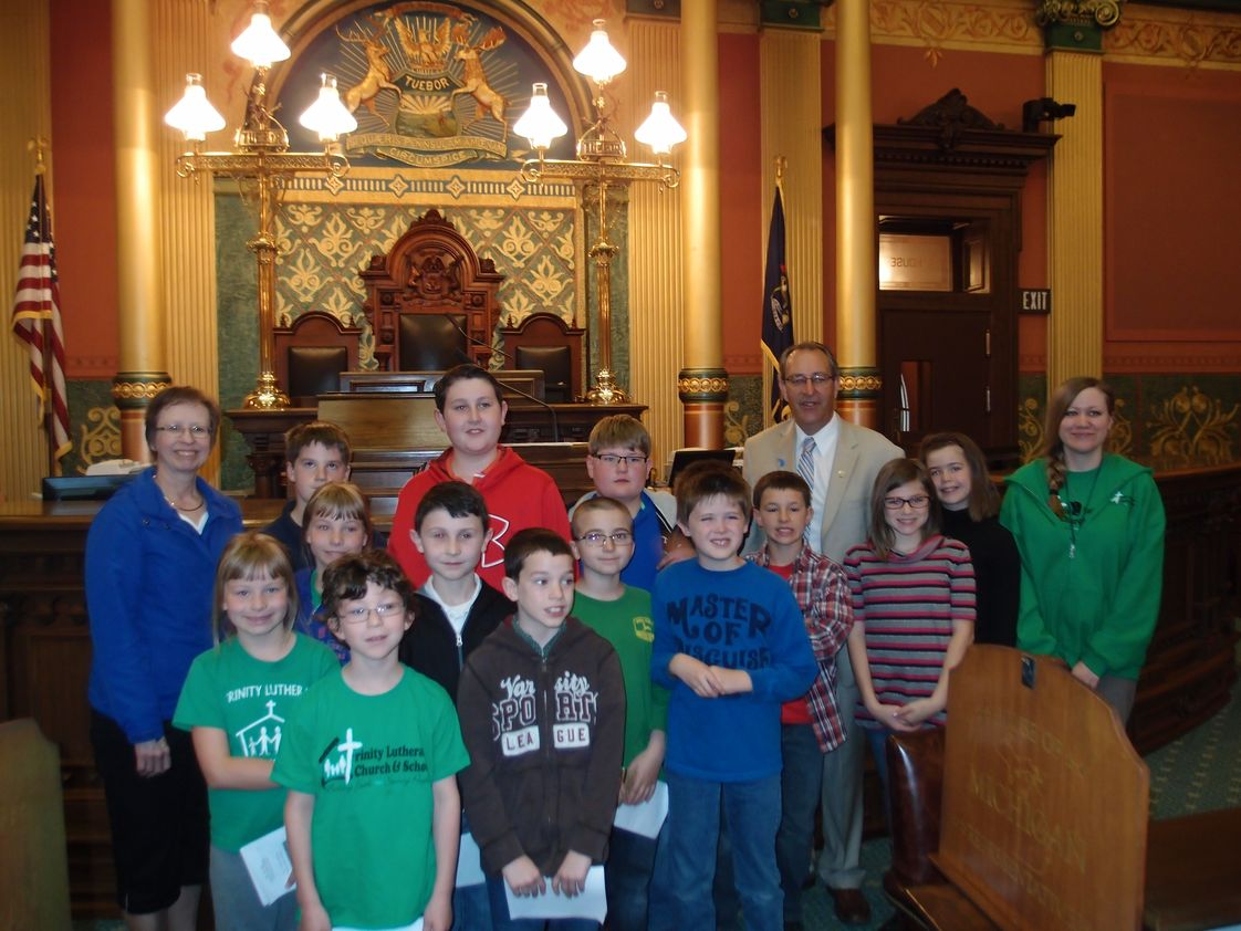 Trinity Lutheran School Photo - Field trip to the Capitol