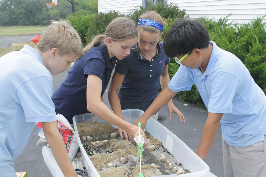 Schaeffer Academy Photo - 6th grade students work on a project in Ancient History.