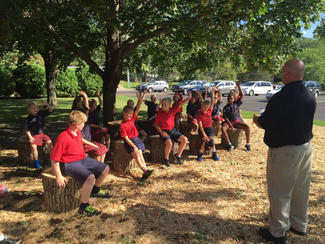 St Odilia School Photo #1 - We have an outdoor classroom on our school campus! Teachers can reserve the space to offer a unique, and engaging space for learning.