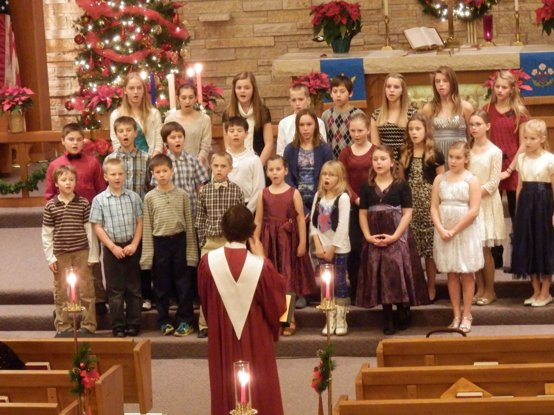 Trinity Lutheran School Photo #1 - The Jr. Choir is singing in the Trinity Song Service.