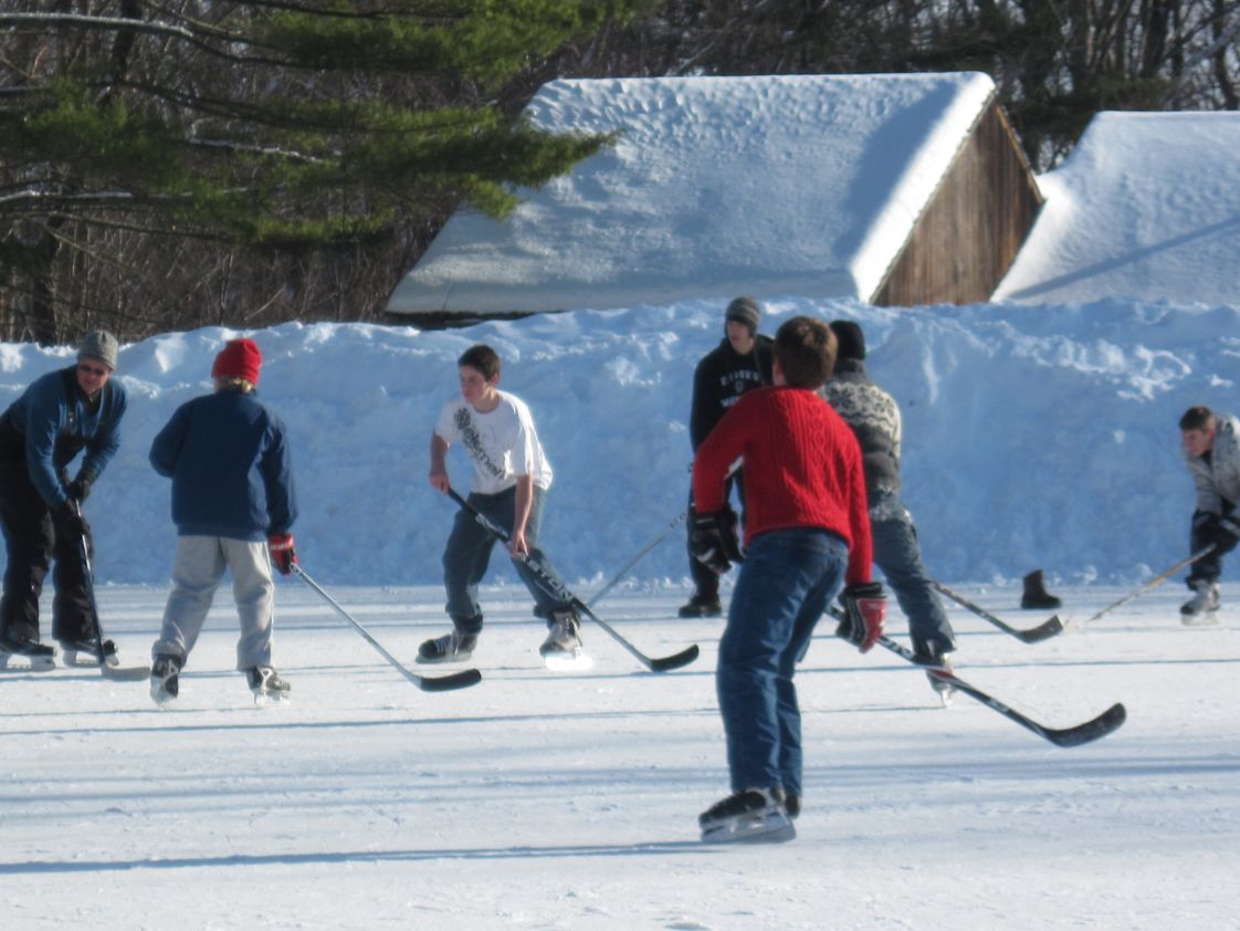 The Well School Photo #1 - Pond hockey is a blast!