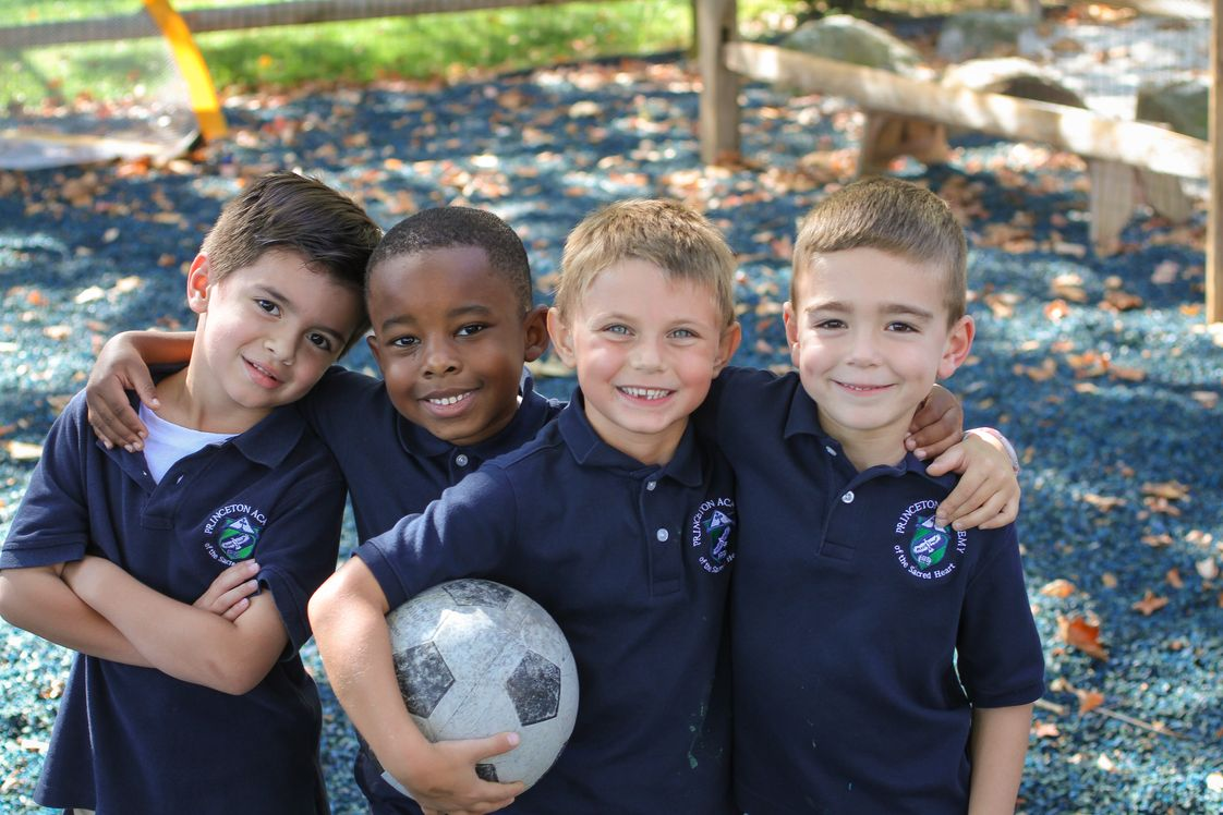 Princeton Academy of the Sacred Heart Photo #1 - Kindergarten boys on the playground.