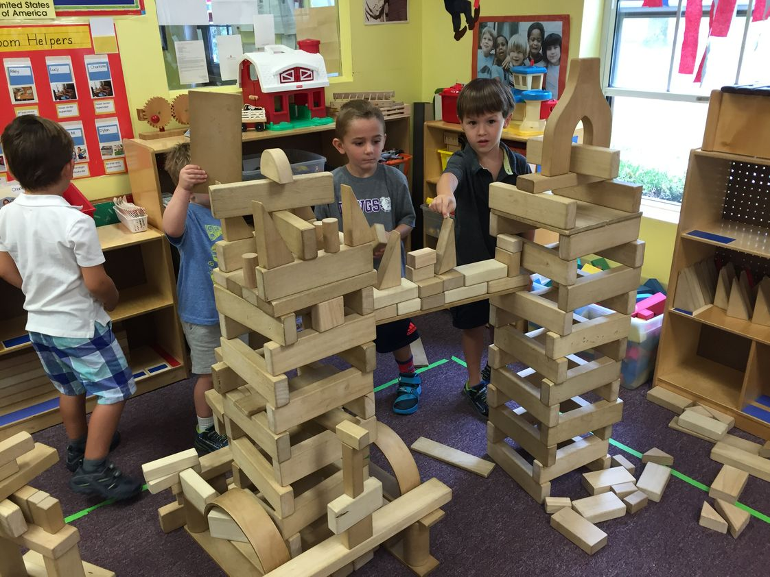 Creative Learning Center Photo #1 - Block building is an essential part of our preschool and primary program. Through this activity, the children develop critical thinking skills, perseverance, language skills, mathematical and scientific understandings, as well as a strong self concept.