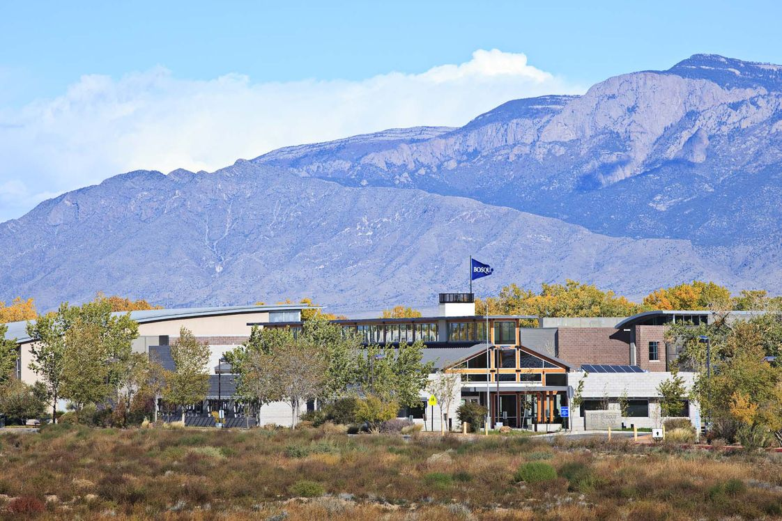 Bosque School Photo #1 - Bosque School, founded in 1994, is a challenging college preparatory school for students in grades 6-12. The campus sits on 45-acres adjacent to the Rio Grande bosque in Albuquerque, New Mexico.