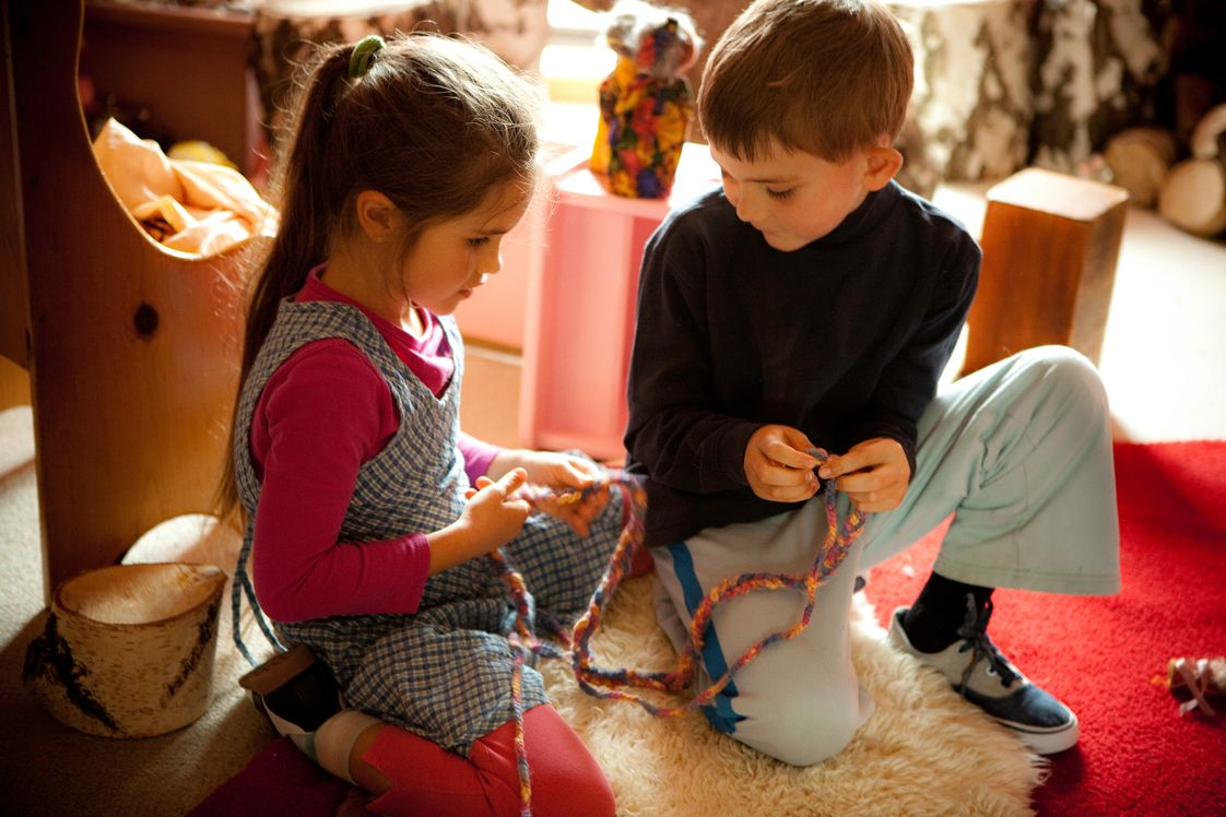 Davis Waldorf School Photo #1 - Waldorf preschool and kindergartens utilize the child's natural propensity to learn through play. Play benefits cognitive, social, emotional, and physical development. When play is fun and child-directed, children are motivated to engage in opportunities to learn.