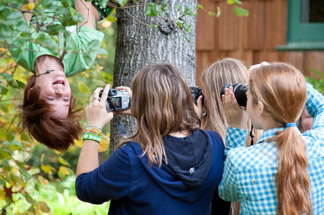 Greenwood School Photo #1 - Middle schoolers in their photography elective.