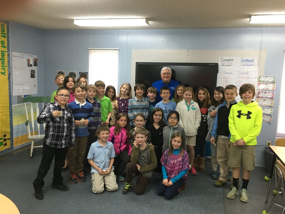 Hickory Day School Photo #1 - Mayor Rudy Wright came to speak about different types of government.