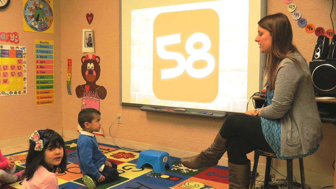 St. James Catholic Schools Photo - Smartboards are installed in all but two classrooms. The last two Smartboards will be installed during the 2014-15 school year.