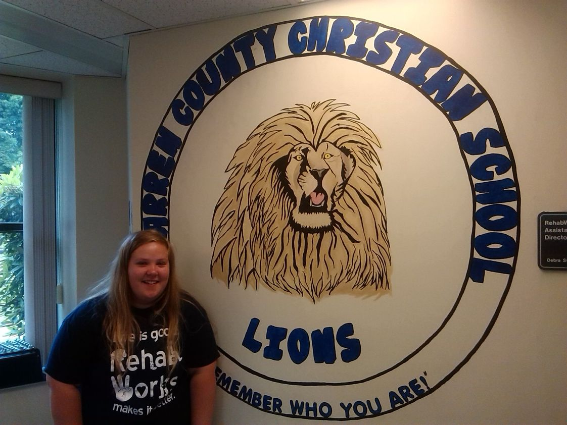 Warren County Christian School Photo #1 - Kyra Keeler's painting at Warren General Hospital for WCCS