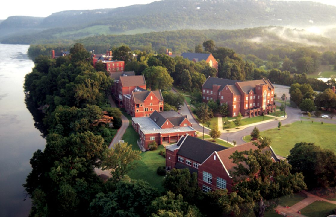 Baylor School Photo #1 - Baylor's 690-acre campus is located on the Tennessee River and surrounded by mountains.