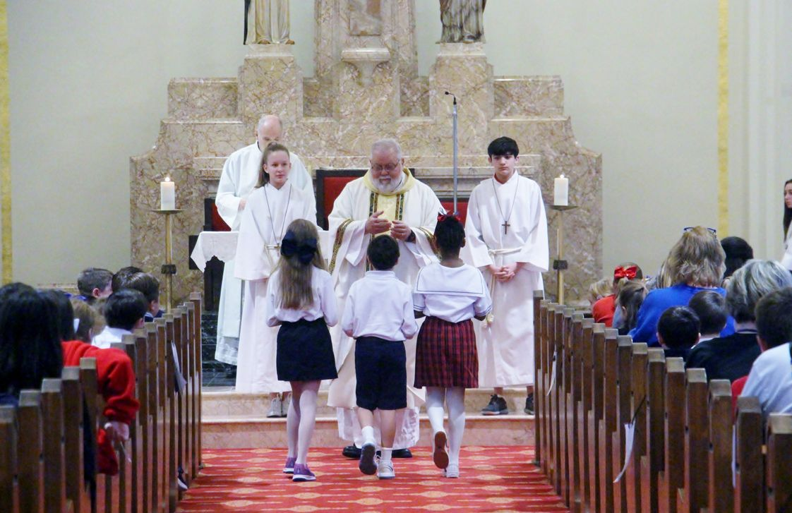 St. Anne Catholic School Photo #1 - Students attend Mass every week at St. Anne Catholic Church