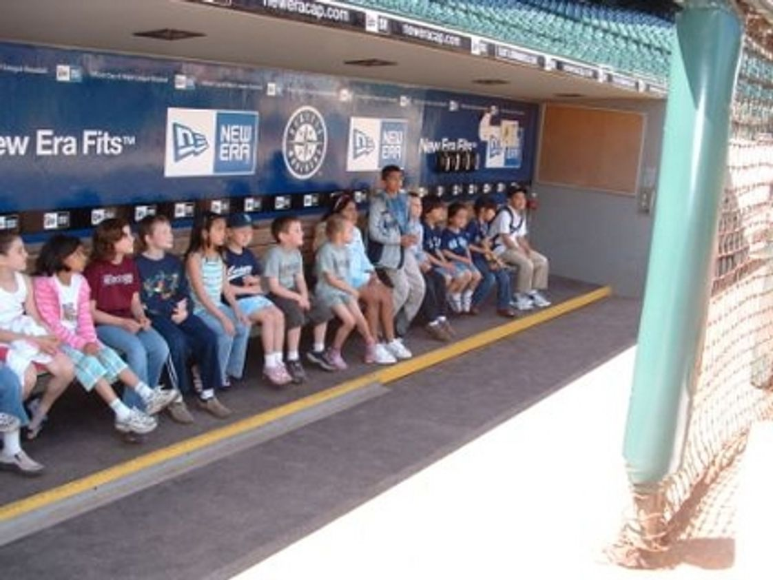 Capital Montessori School Photo #1 - In the Safeco Field dugout during a field trip.