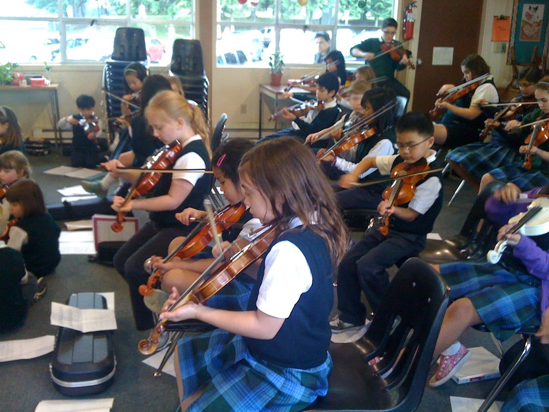 St. Mary Magdalen Elementary School Photo #1 - SMM Strings Orchestra Rehearsing