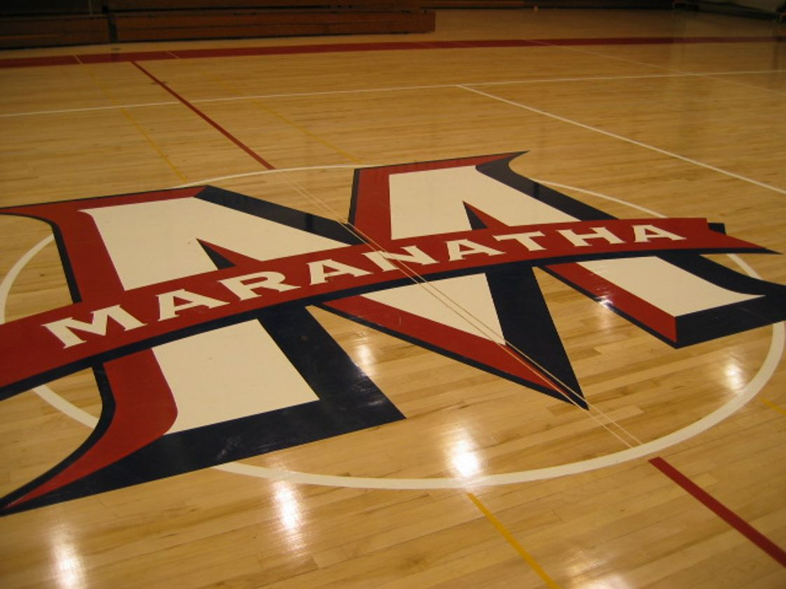 Maranatha High School Photo - Our collegiate size gym boasts the accolades of our teams over the years inspiring school pride and a desire to do our best with character.