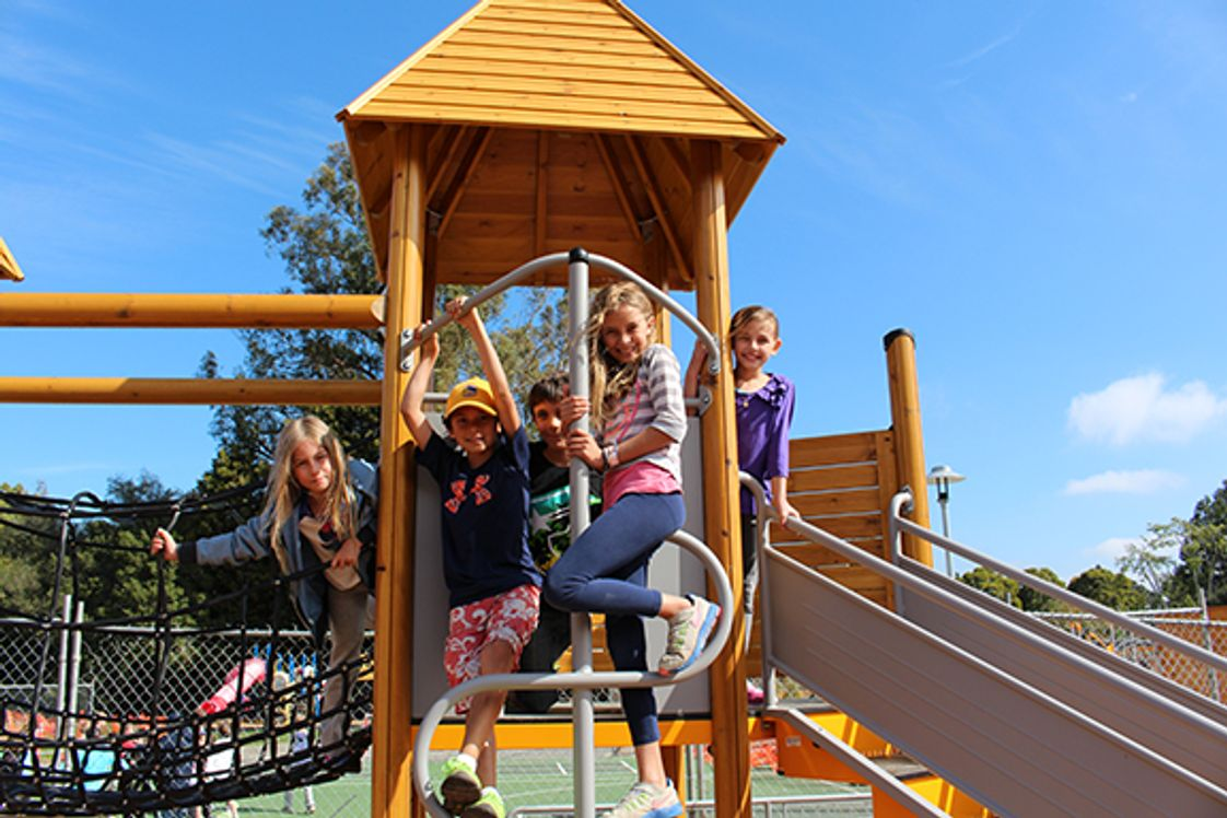 Marin Primary & Middle School Photo - Children of all ages love the newly renovated schoolyard.