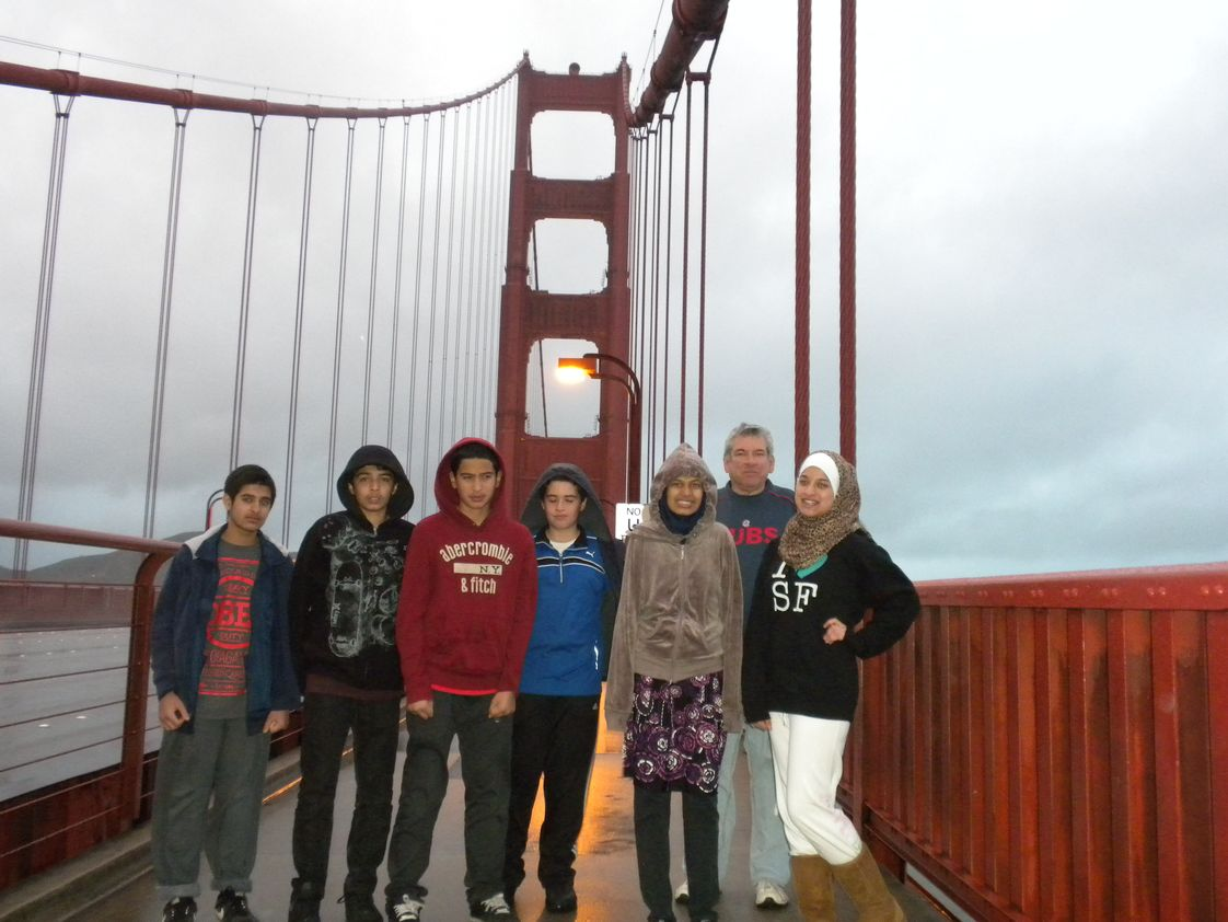Me'raj Academy Photo #1 - Children walked the entire Golden Gate bridge. SFO trip _2012.