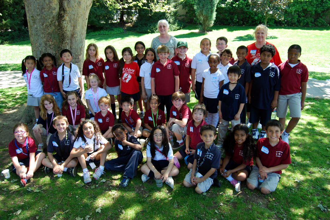 Mt. Calvary Lutheran School Photo - Students on a field trip to the Huntington Library in Pasadena.